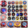 Round Shield America Captain Benz Gossip Fidget Spinner Toy Metal Hand Spinner with 188 Bearing Hand Spinner