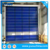 Wind Resistant Stacking Folding Type PVC Fabric High Speed Fast Rapid Roller Shutter Traffic Door
