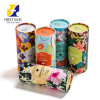 Custom Cosmetic Paper Packaging Tube Texture Cardboard Postal Tubes Round Paper Box Perfume Carton