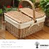 Hongdao Factory Direct Supply Handmade Wooden Wicker Willow Picnic Gift Basket for Sale Wholesale _E
