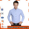 Top Quality 100% Cotton Blue Men Formal Business Dress Shirts