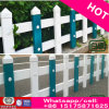 Rich Cheap Wood Grain PVC Plastic Steel Lawn Garden Fence with Stand Column Free