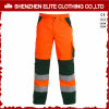 Green Orange Knee Pad Polyester Workwear Pants (ELTHVPI-22)