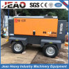 10bar Trailer Diesel Driven Rotary Air Compressor for Low Pressure Drilling Rig