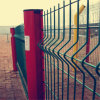 Green PVC Coated Welded 3D Curved Fence