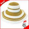 Mix-Colored Straw Sun Floppy Hat