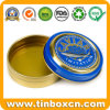 Mini Small Round Metal Caviar Tin with Golden Lacquer Inside