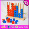 2015 Funny Kids Stacking Toys Educational Toys, Market Newly Children Wooden Stacking Toy, Colorful Wooden Stacking Toy W13D083