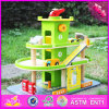 2016 New Design Funny Children Wooden Cartoon Parking Lot Toy W04b037