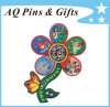 Custom Flower Shape Embroidery Badge