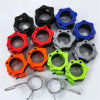 Nylon Safety Dumbbell Barbell Bar Clasp Professional Fast Olympic Bar Clasp High Grade 5cm Plastic Clasp Lock