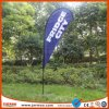 Outdoor Promotion Blue Color Beach Teardrop Banner Flag