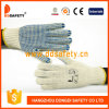 Ddsafety 2017 7 Gauge Natural Cotton Blue PVC Dots Glove