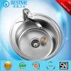 Africa Market Hot Sale Single Basin Round Shap Kitchen Sink BS-650