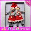 2017 New Products Baby Cartoon Characters Wooden Collectible Dolls W02A229