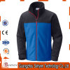 Stand Collar Design Softshell Fleece Jacket for Working Man