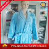China Towel Factory Customer Cotton Blue Hotel Bathrobe