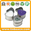 Heart-Shaped Tin Candle Can, Everyday Tin Box, Metal Travel Tin