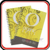 Yellow Plastic Cover Spiral Exercise Notebook