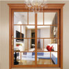 Aluminum Glass Double Entry Door with Transom House Butterfly Panel