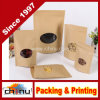 High Quality Food Package Kraft Paper Bag with Clear Window (220086)