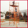 220kv Yellow 10m Fiberglass Double-Wide Scaffolding with Casters
