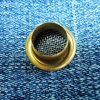 Brass Mesh Eyelet with Raw Finish for Garments
