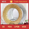 Popular Clear Bottom Decorative Glass Charger Plate Manufacturer