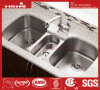Stainless Steel Triple Bowl Under Mount Kitchen Sink with Cupc Approved, Kitchen Basin