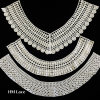 Fashion Cotton Yarn Crocheted Guipure Lace Fabric Neck Collar Lace X015