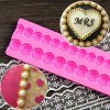 Bead Chain Silicone Fondant Mould Purse Bag Cake Mold