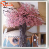 Indoor Fiberglass Plastic Artificial Cherry Blossom Tree