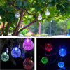 Solar Powered Crack Ball Hanging Light Ball Chandelier