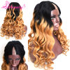 V Part Hair Wigs for Black Women Brazilian 1b/27 Hair