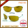 Yellow Lens Metal Sunglasses with Sliver Temples for Men