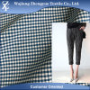 Tartan Plaid Stretch Cation Polyester Elastane Fabric for Uniform Women Trousers
