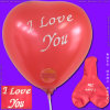 Inflatable Silk Screen Printed Heart Shape Balloon for Christmas Day`