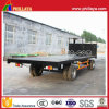 20FT Flatbed Full Trailer/ Drawbar Trailer with Front Rail