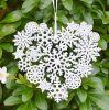 2020 White Foam Christmas Snowflake