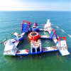Three Colors PVC Floating Giant Inflatable Water Parks for Sea