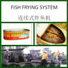 Continuous Fish Fryer Line with Capacity at 200kgs/Hr