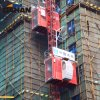 40m/Min Construction Elevator with Galvanized Mast Section
