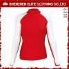 White and Red Long Sleeve Cheap Rashguards for Women (ELTRGI-48)