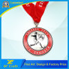 Custom Enamel Silver Sports Finisher Medal in Round Shape (XF-MD06)