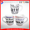 White Colored Mug with Letters Design