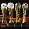 Crystal Glass Trophy with Ball Craft for Sport