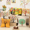 Printed Throw Pillow Case Home Decorative Back Cushion Cover Thick Linen Cotton