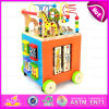 2015 Wooden Multifunction Baby Walkers Toy, Wooden Stroller Baby Walker, Educational Wooden Baby Walker with Alphabet Rack W16e040