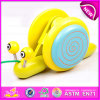 Hot Sale Pull Wooden Rapid Snail Toy for Kids, New Promotional Gift Children Snail Cartoon Pull Line Toy W05b107