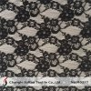 Black Allover Lace Fabric for Dress Material (M0377)